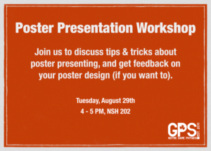 flyer for poster workshop