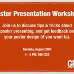 flyer for poster workshop